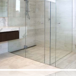 90 degree framless shower-door