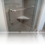 frameless shower handle