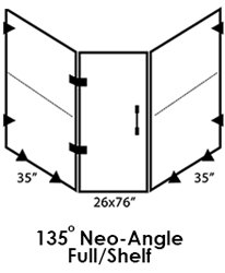 135 Neo-Angle Frameless Shower