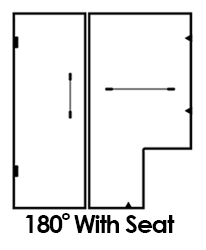 180 shower with seat