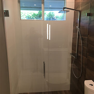 framless 90 degree shower
